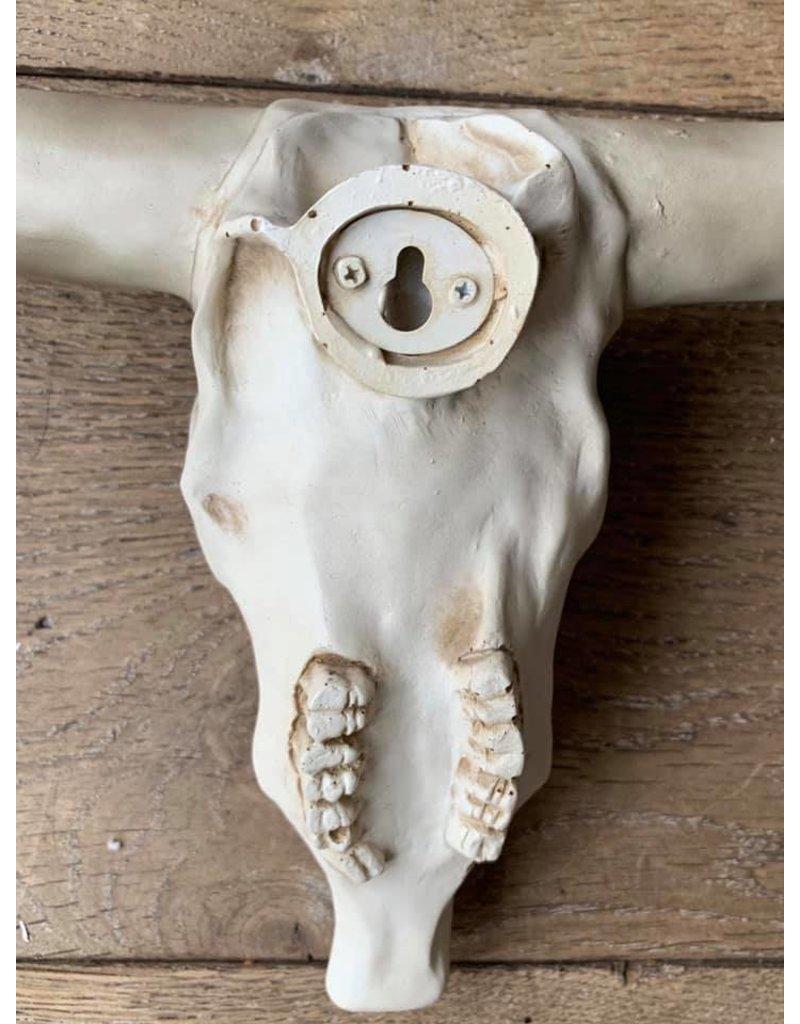 Damn Skull effen wit  zwarte uiteinden