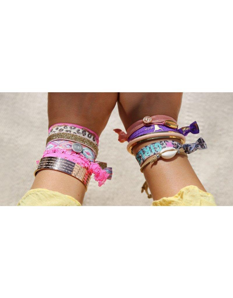 Love Ibiza White Ibiza set van 5 armbandjes/haarelastiekjes