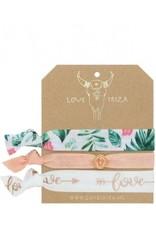 Love Ibiza White Peach set van 3
