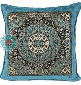 esperanza-deseo Turqoise Mandala kussenhoes 45 x45
