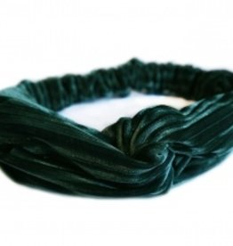 Love Ibiza Velvet hair band wine emerald