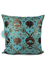 esperanza-deseo Flowers turquoise pillow case / cushion cover ± 70x70cm