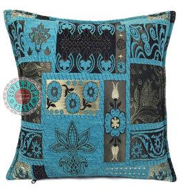 esperanza-deseo Patchwork flower kussenhoes/cushion cover ± 45x45cm