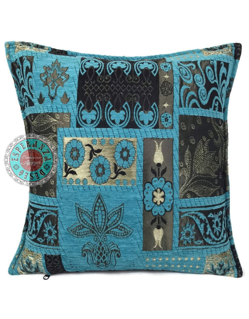 esperanza-deseo Patchwork flower kussenhoes/cushion cover ± 45x45cm