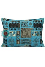 esperanza-deseo Flowers turquoise pillow case / cushion cover ± 50x70cm - Copy