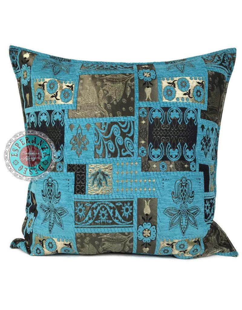 esperanza-deseo Patchwork kussenhoes/cushion cover ± 70x70cm