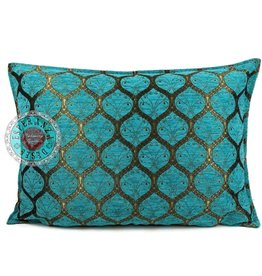 esperanza-deseo Honingraat turquoise kussenhoes/cushion cover ± 50x70cm