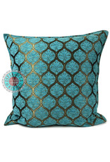 esperanza-deseo Honingraat turquoise kussenhoes/cushion cover ± 70x70cm