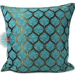 esperanza-deseo Honeycomb turquoise pillow case / cushion cover ± 70x70cm