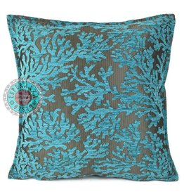 esperanza-deseo Flowers turquoise pillow case / cushion cover ± 45x45cm - Copy - Copy