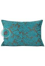esperanza-deseo Flowers turquoise pillow case / cushion cover ± 50x70cm - Copy - Copy