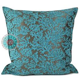 esperanza-deseo Turqoise coral  kussenhoes ± 70x70cm -