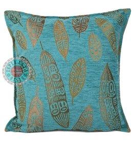 esperanza-deseo Flowers turquoise pillow case / cushion cover ± 45x45cm - Copy - Copy - Copy - Copy