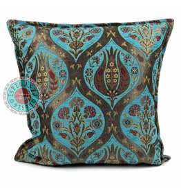 esperanza-deseo Tulip turquoise kussenhoes/cushion cover ± 45x45cm