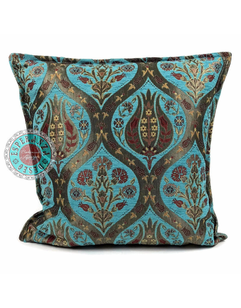 esperanza-deseo Tulip turquoise pillow case / cushion cover ± 45x45cm