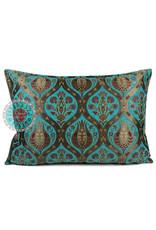esperanza-deseo Tulip turquoise kussenhoes/cushion cover ± 50x70cm