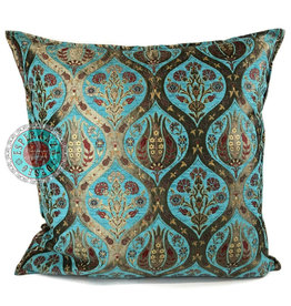 esperanza-deseo Tulip turquoise kussenhoes/cushion cover ± 70x70cm