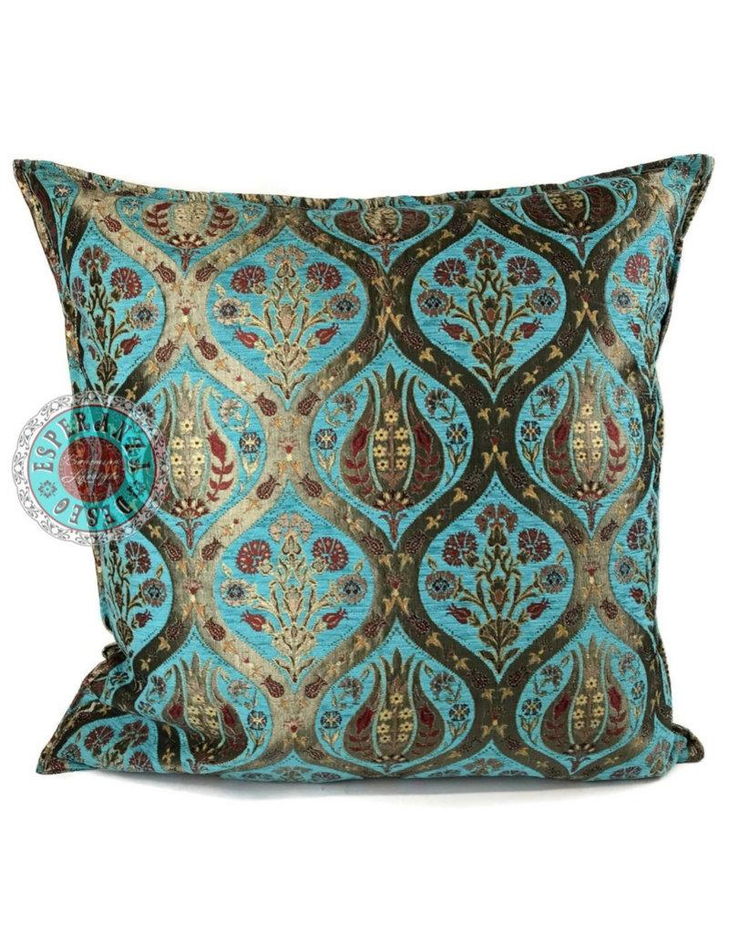 esperanza-deseo Tulip turquoise pillow case / cushion cover ± 70x70cm
