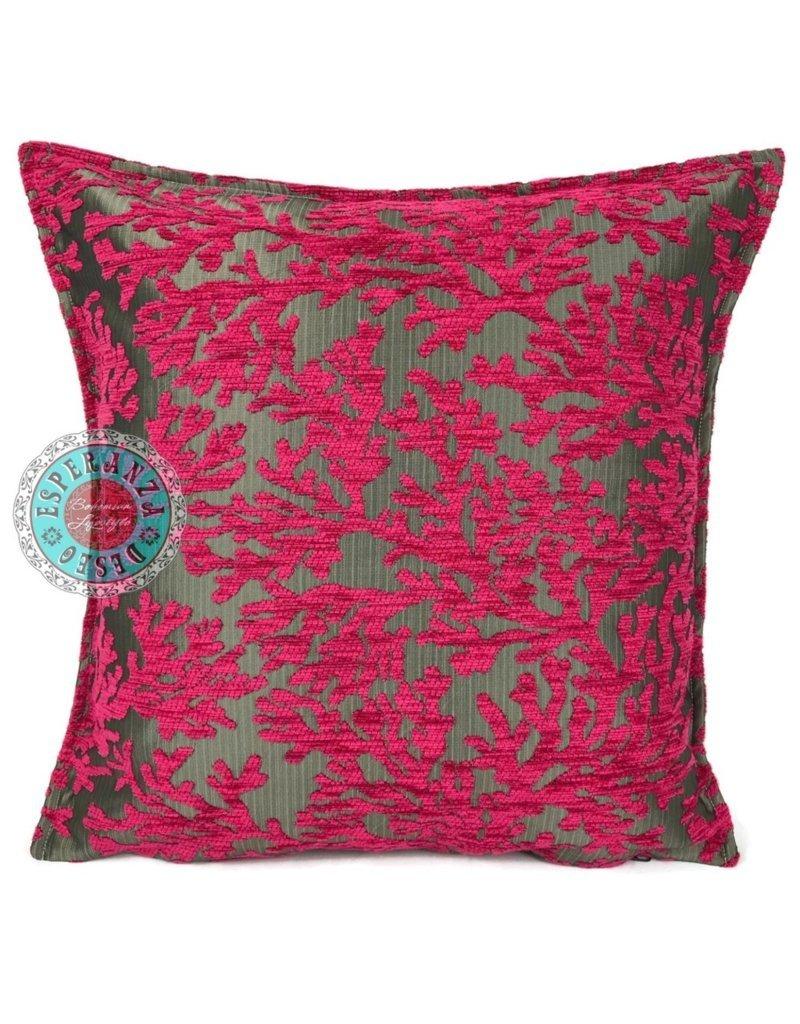 esperanza-deseo Flowers turquoise pillow case / cushion cover ± 45x45cm - Copy - Copy - Copy