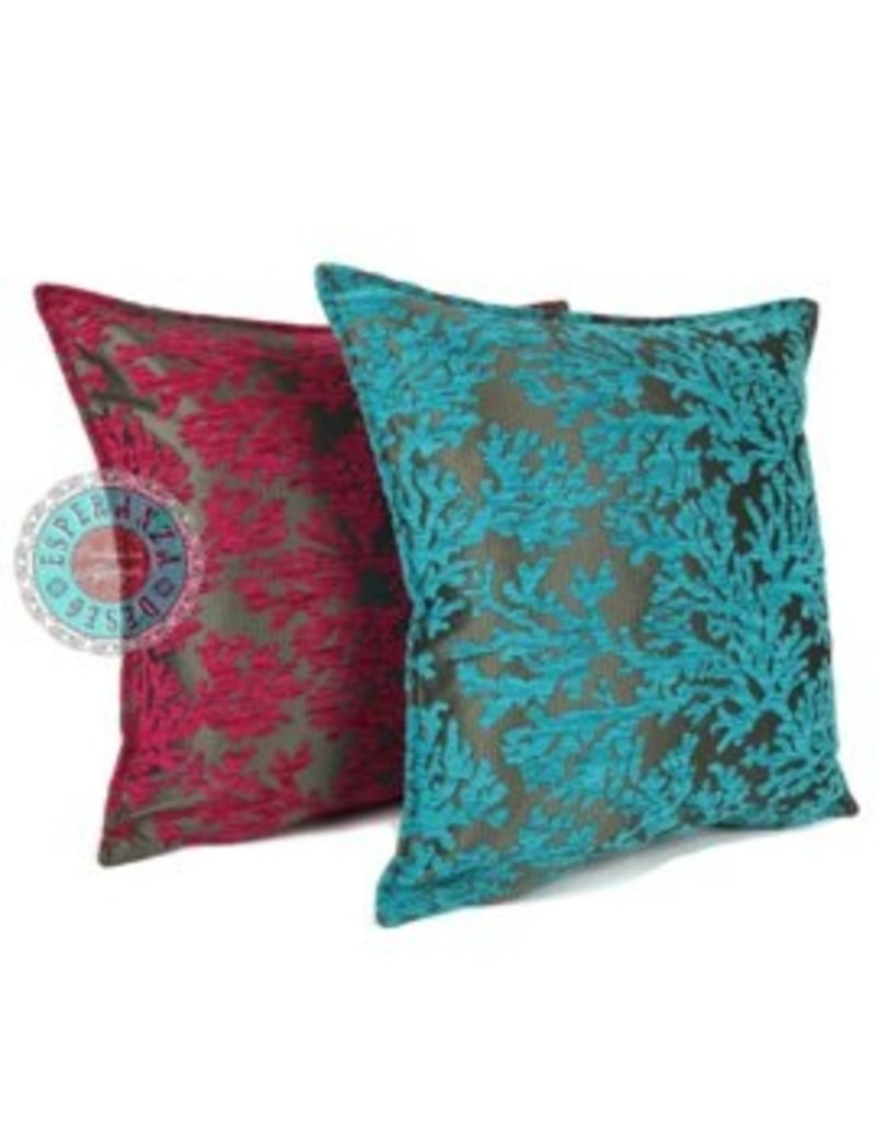 esperanza-deseo Flowers turquoise pillow case / cushion cover ± 70x70cm - Copy - Copy - Copy