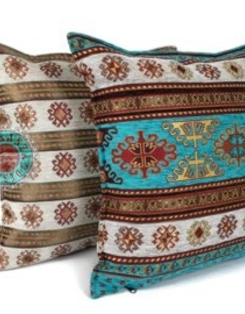 esperanza-deseo Flowers turquoise pillow case / cushion cover ± 45x45cm - Copy - Copy - Copy - Copy - Copy - Copy - Copy - Copy
