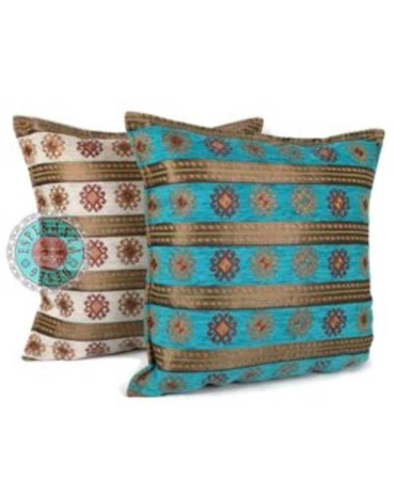 esperanza-deseo Flowers turquoise pillow case / cushion cover ± 45x45cm - Copy - Copy - Copy - Copy - Copy - Copy - Copy - Copy - Copy