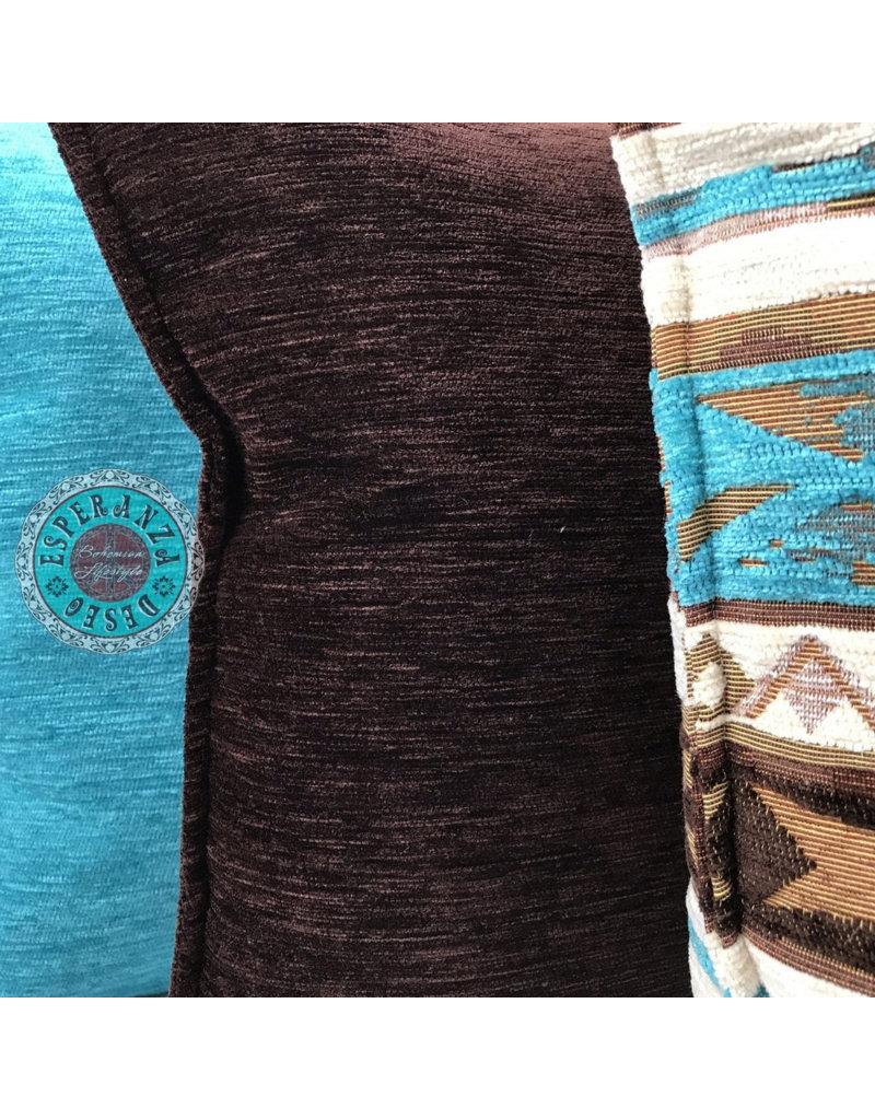 esperanza-deseo Mediterraan turqoise bruin 45 x 45