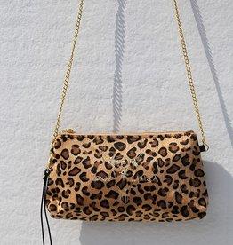 Love Ibiza Velvet leopard bag