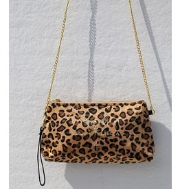 Love Ibiza Velvet leopard bag