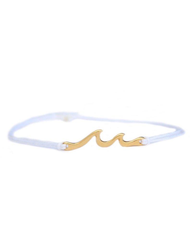 Love Ibiza Armband waves white gold