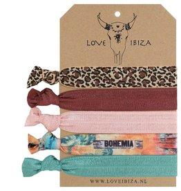 Love Ibiza BOHO CHIC ∙ Set of 5 hair bands / bracelets (