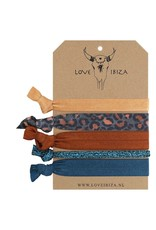 Love Ibiza Boudoir set of 5 hair bows / bracelets