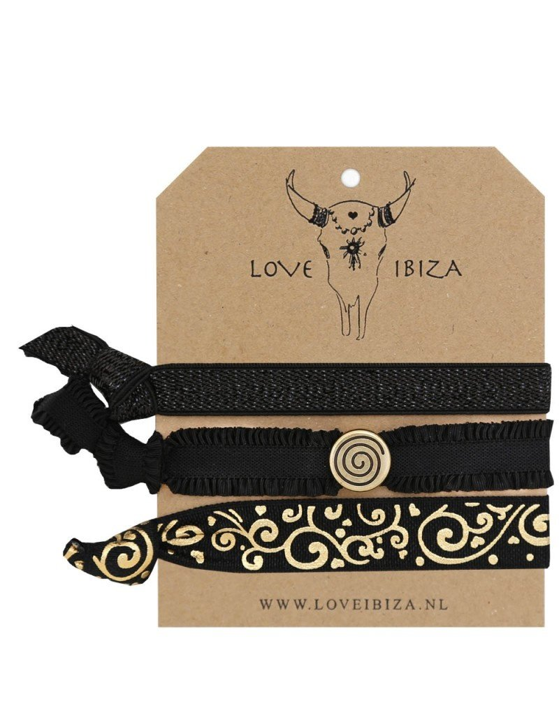 Love Ibiza Mermaid red set of 3 hair bows / bracelets