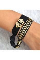 Love Ibiza Aztec set van 3  haarelastiekjes/armbandjes