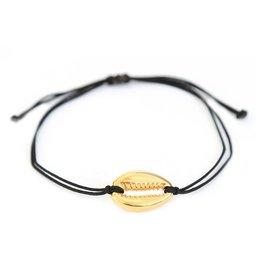 Love Ibiza Bracelet black gold shell