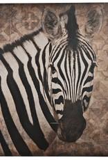 Damn Zebra op hout