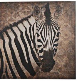Damn Zebra on wood