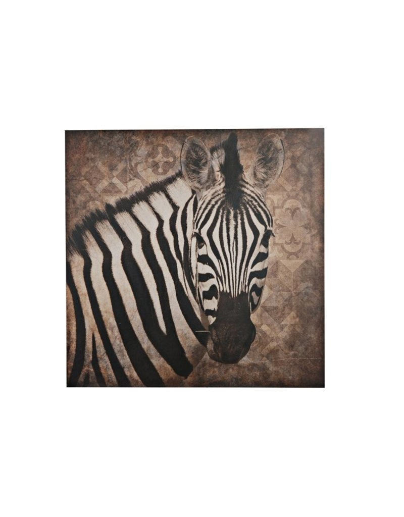 Damn Zebra on wood
