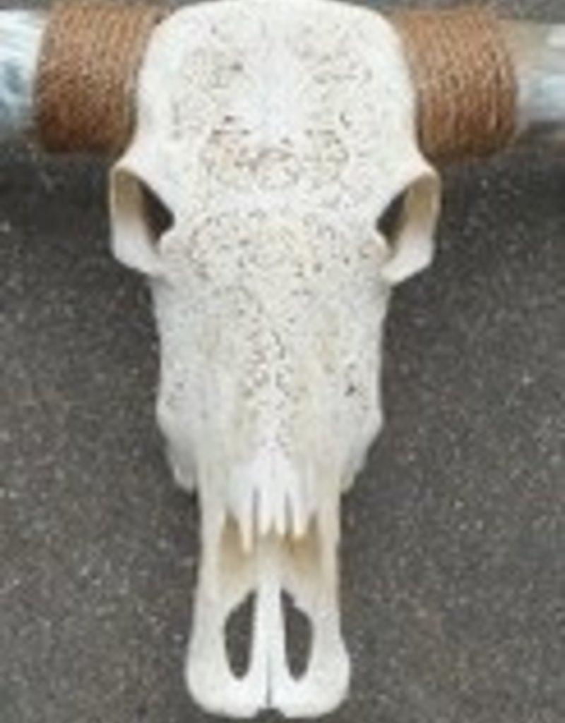 Damn Longhoorn gegraveerd echt 1.45 m