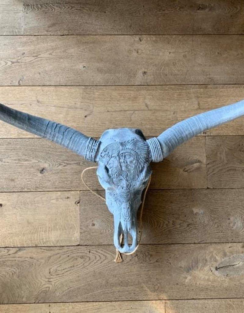 Damn Longhoorn gegraveerd 1 meter breed