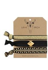 Love Ibiza set van 3 elastiekjes / armbandjes