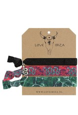 Love Ibiza Cobra set van 3 elastiekjes / armbandjes
