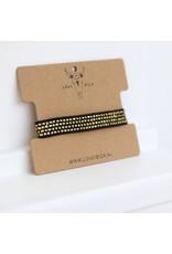 Love Ibiza Gold sparkle bracelet