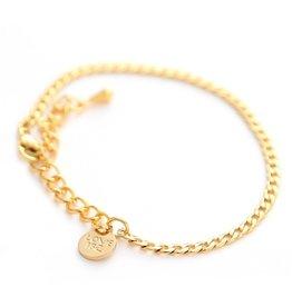 Love Ibiza Goud armbandje muntje
