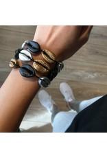 Love Ibiza Armband shell chrome