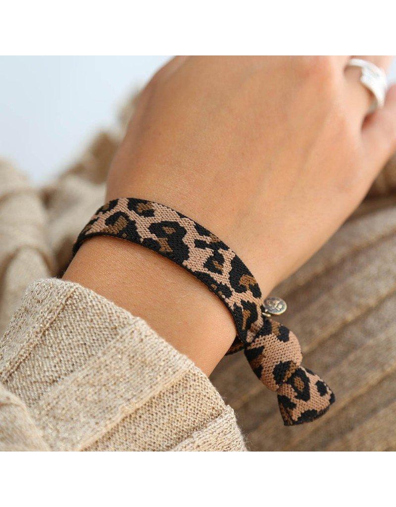 Love Ibiza Armband leopard bruin