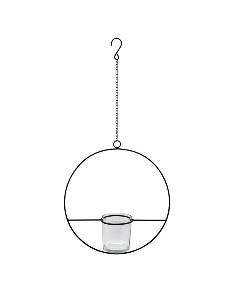 Damn hangende ring met waxine 28 cm
