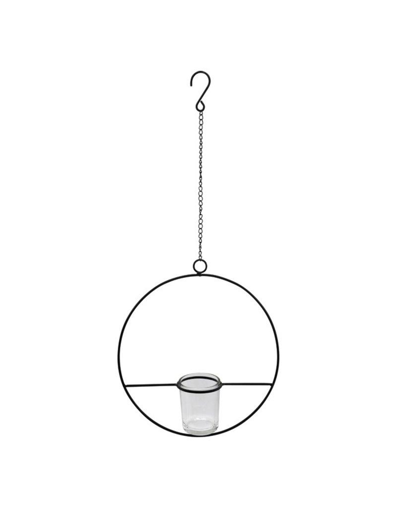 Damn hangende ring met waxine 24 cm