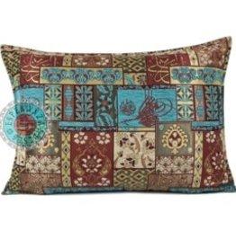esperanza-deseo Patchwork red pillow case / cushion cover ± 50x70cm