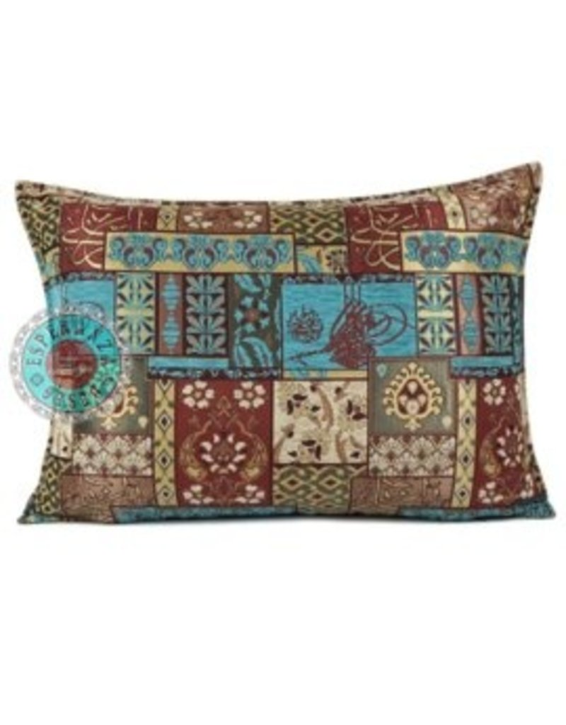 esperanza-deseo Patchwork red kussenhoes/cushion cover ± 50x70cm
